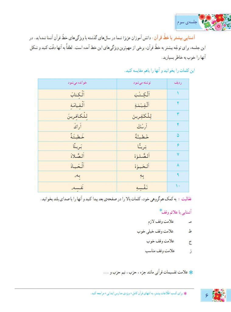 آموزش قرآن ششم - درس اول - کلاس اینترنتی ما - مومکا (5)